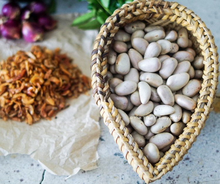 Jackfruit seeds and other ingredients for the curry