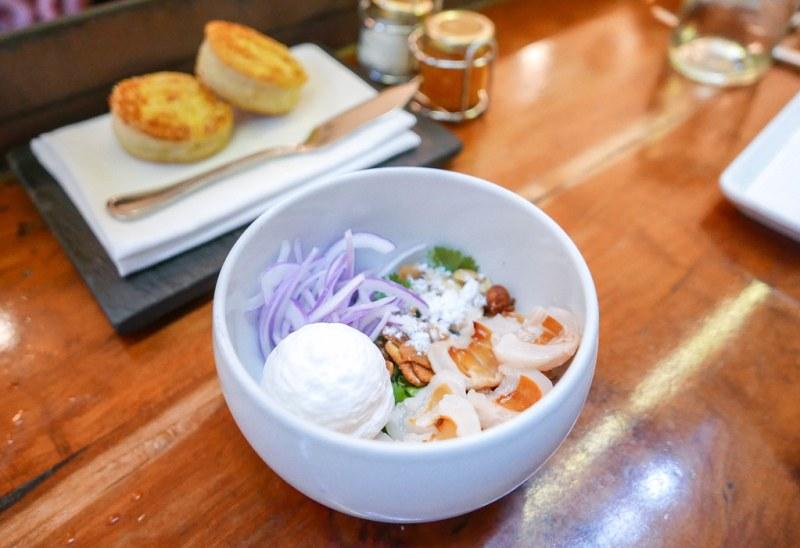 Lychee Salad, pork sausage, habanero, peanuts ($15)