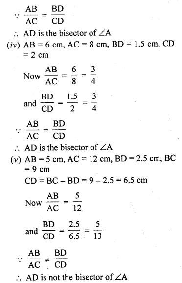 RD Sharma 10 Class Solutions Chapter 4 Triangles