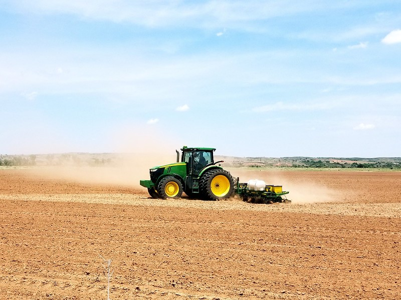 Planting some milo near Roll, Oklahoma