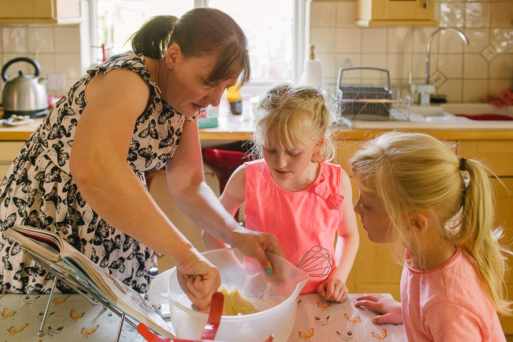 Baking with mum