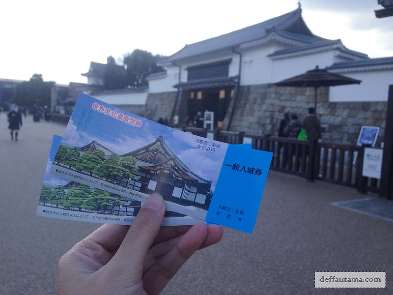 Babymoon ke Jepang - Nijo Castle Ticket