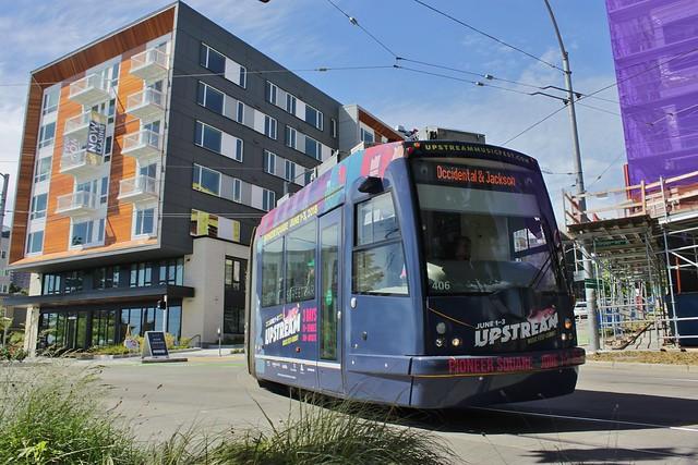 Streetcar at Yesler Terrace