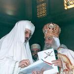 الأنبا بيشوي مطران دمياط مع قداسة البابا شنودة الثالث