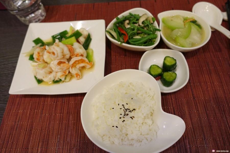 中式料理,八德美食,單人套餐,宮保雞丁套餐,清炒蝦仁套餐,現點現作,裸味兒料理廚房 @VIVIYU小世界