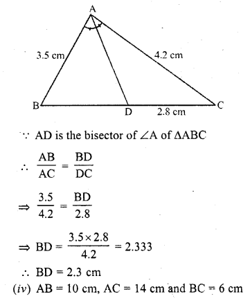 RD Sharma Class 10 Solutions Triangles