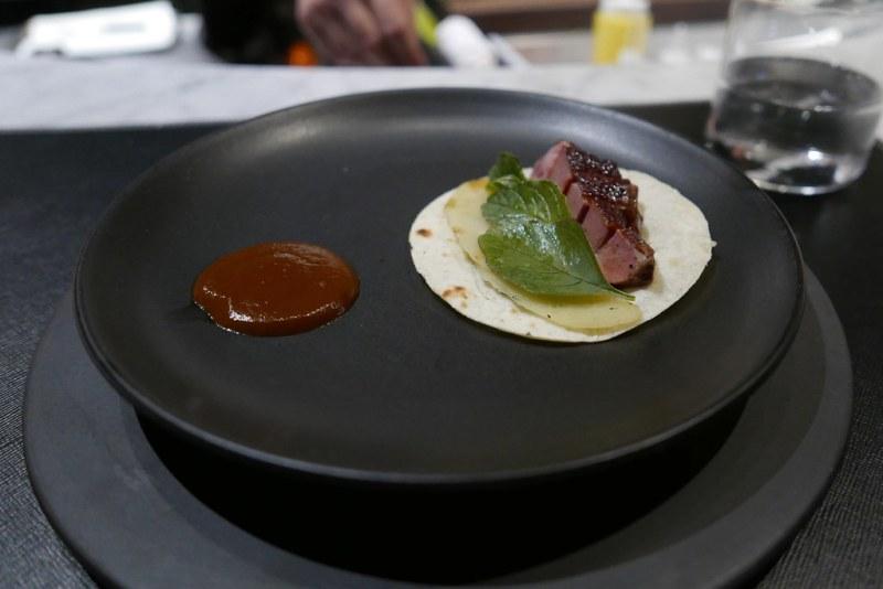 Pichon (Squab) - Sour tortilla, chamoy, house mole