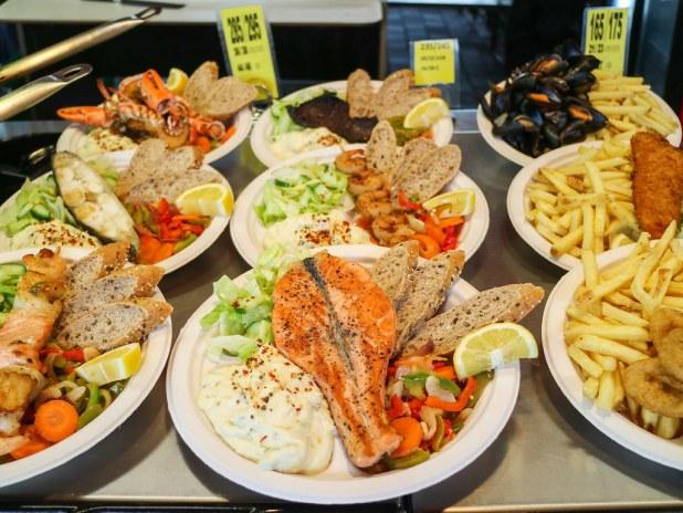 Mercado del pescado en Bergen