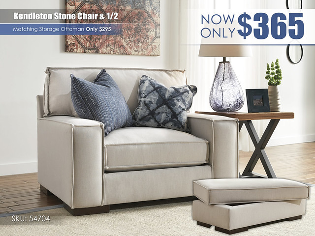 Kendleton Stone Chair and Half 54704-23