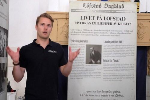 Per Stålebro har gjort utställning på Löfstad slott