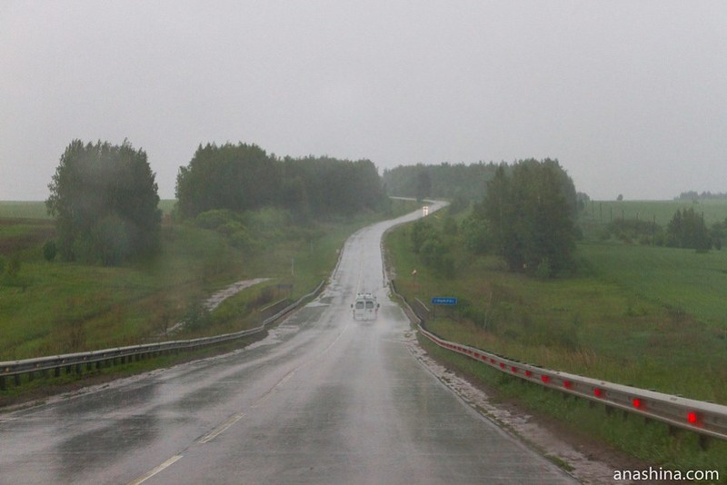 Дорога в дождь, Владимирская область