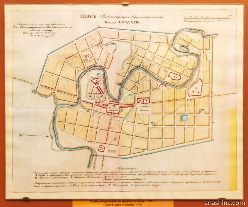 План Суздаля, 1788 год