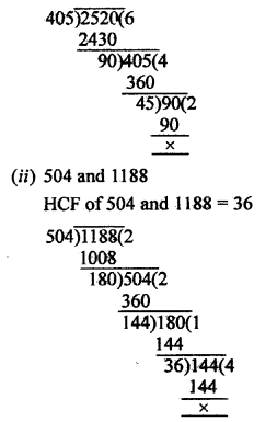 RS Aggarwal Class 10 Solutions Chapter 1 Real Numbers Ex