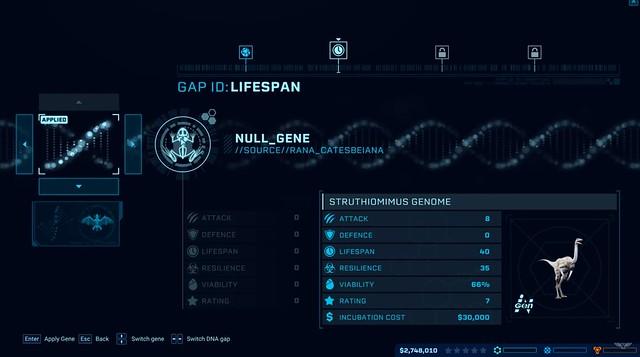 쥬라기 세계 진화 - 게놈 과정