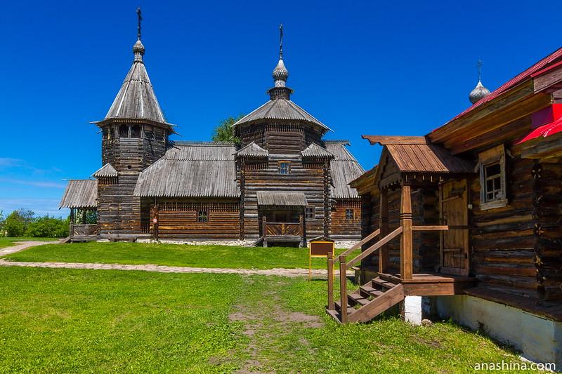 Воскресенская церковь, музей деревянного зодчества, Суздаль