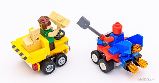 REVIEW LEGO 76089 Marvel Mighty Micros : Scarlet Spider vs Sandman