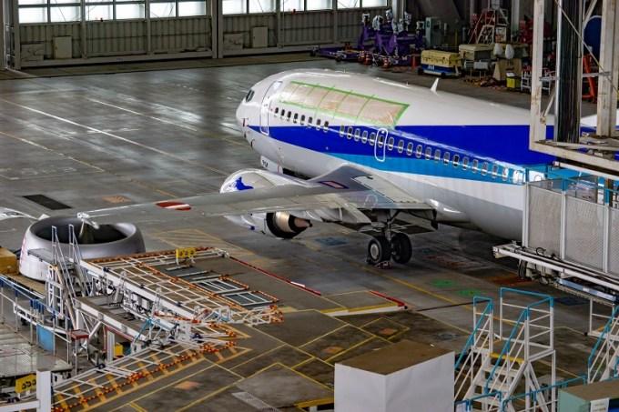 180722 ANA機体工場見学「ANA初!退役機を整備訓練専用機へ」