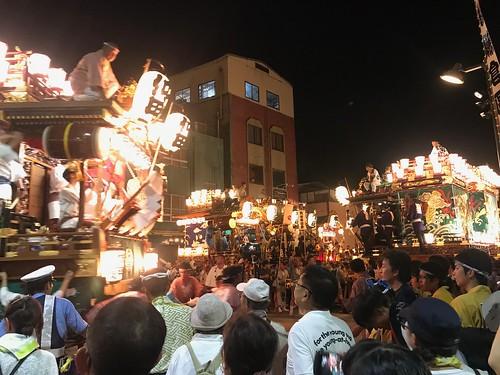 鎌倉町に仲町侵入(うちわ祭2018)