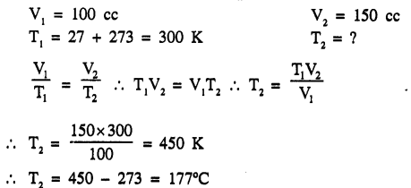 New Simplified Chemistry Class 9 ICSE Solutions - Study of The First Element - Study of Gas Laws 4.2