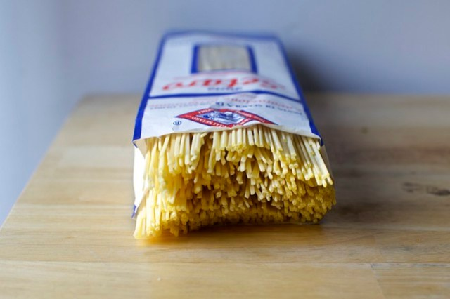dried pasta is ideal here