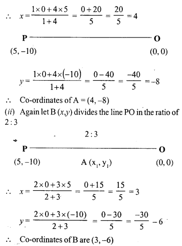 Selina Concise Mathematics Class 10 ICSE Solutions Chapter 13 Section and Mid-Point Formula Ex 13A 8