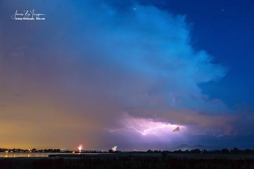 Thunderstorm Edge Over Boulder Colorado