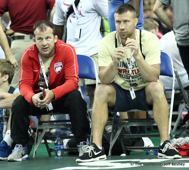 Minnesota Coaches Brandon Paulson and Jared Lawrence 180715BJF0031