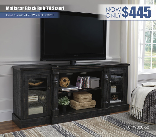 Mallacar Black Rub TV Stand_W880-68