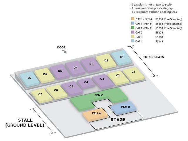 iKON 'Continue' Tour in Singapore Seating Plan