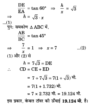 UP Board Solutions for Class 10 Maths Chapter 9 Some Applications of Trigonometry 12.1
