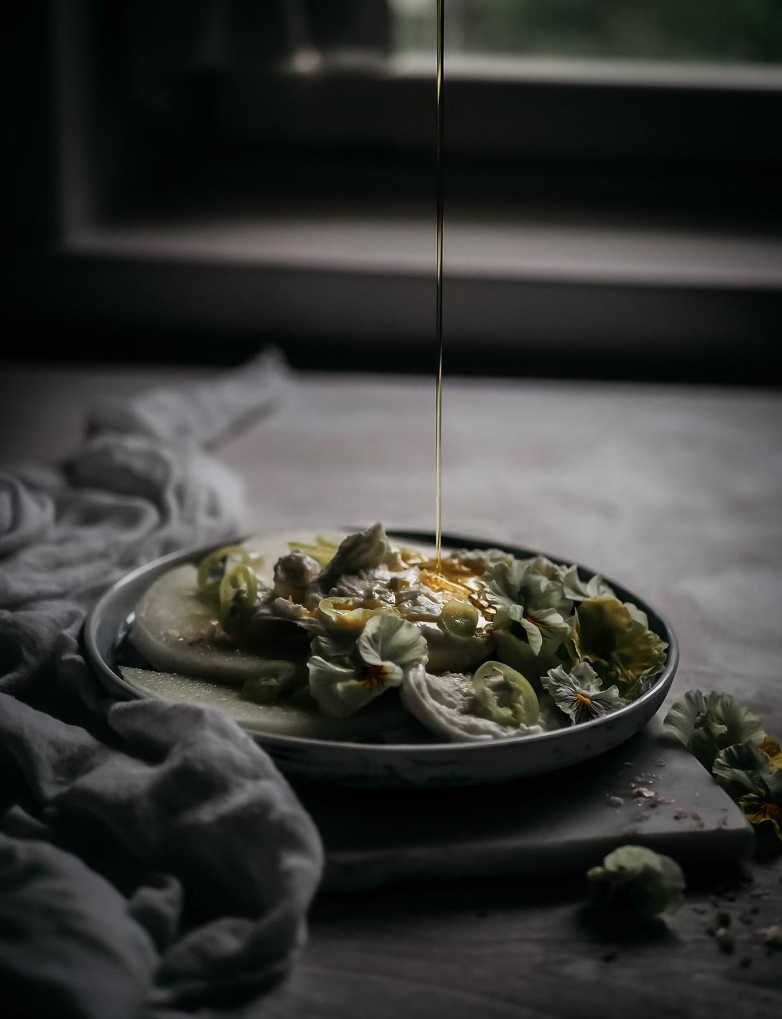 mozzarellaa ja melonia