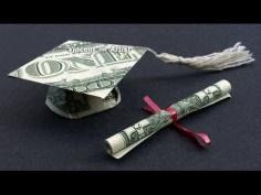 Graduation Gifts : DIY How to Fold $2 Money Origami Graduation Cap & Diploma – Dollar Origami – Gra…