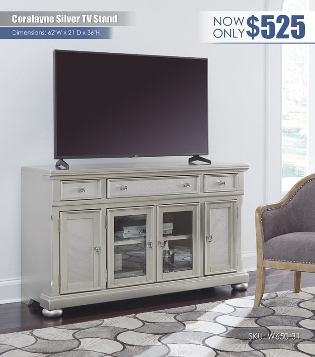 Coralayne Silver TV Stand_W650-31