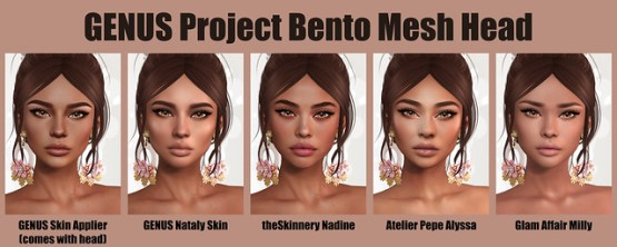 Genus Project Bento Mesh Head - Skins
