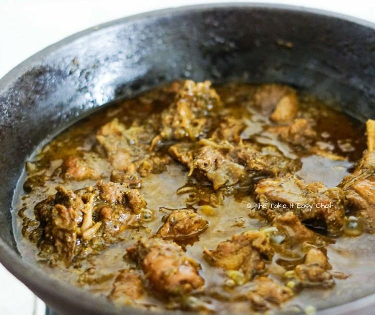 Kerala Duck Pepper Roast before it is reduced