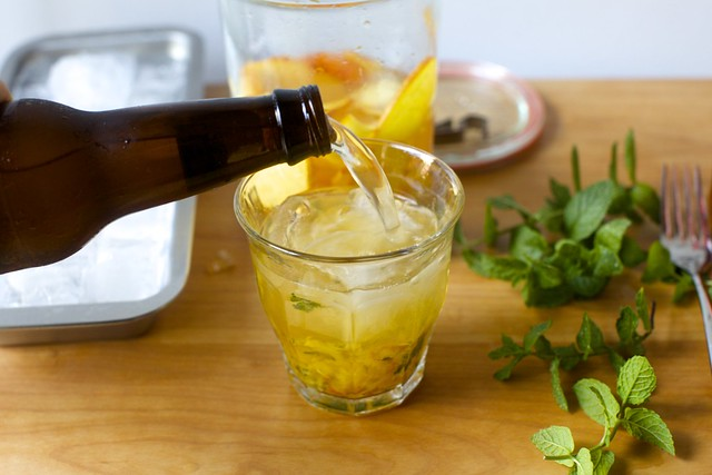 a splash of ginger beer