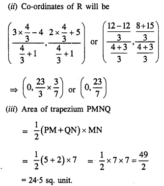 Selina Concise Mathematics Class 10 ICSE Solutions Chapter 13 Section and Mid-Point Formula Ex 13A 23.1