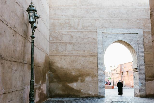Walking in Marrakech