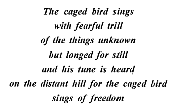 ICSE Solutions for Class 9,10 English - I Know Why The Caged Bird Sings-(note)-2