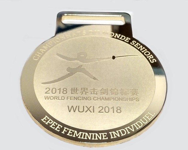 medal pozłacany Mistrzostwa Świata Szermierka WUXI 2018