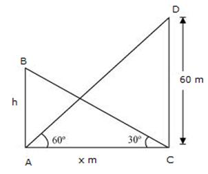 RS Aggarwal Solutions Class 10 Chapter 14 Height and Distance Ex 14a 30