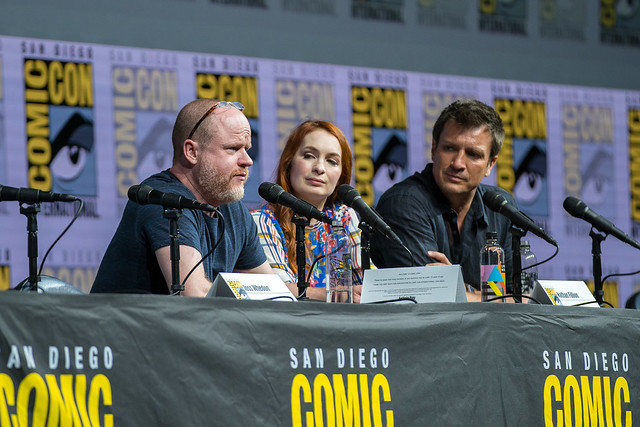 Joss Whedon, Felicia Day and Nathan Fillion