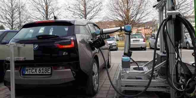 robot-chargeur-voiture-électrique