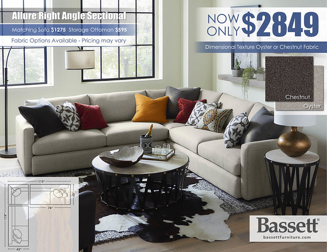 Allure Bassett Right Angle Sectional_Oyster