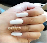 30+ Elegant White and gold Nail Art Designs trends nails ...