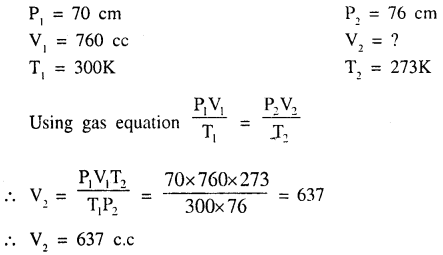 New Simplified Chemistry Class 9 ICSE Solutions - Study of The First Element - Study of Gas Laws 12.2