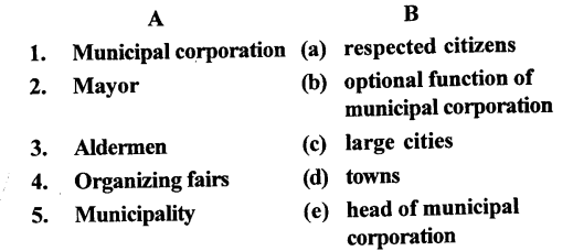 ICSE Solutions for Class 6 History and Civics - Urban Local Self-Government