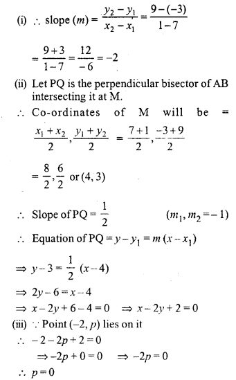 Selina Concise Mathematics Class 10 ICSE Solutions Chapter 14 Equation of a Line Ex 14E 26