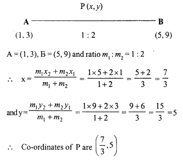 Selina Concise Mathematics Class 10 ICSE Solutions Chapter 13 Section and Mid-Point Formula Ex 13A 1