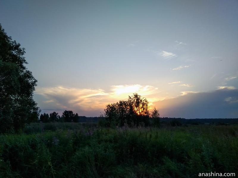Михалево, закат